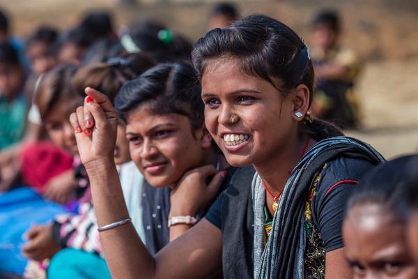 940.000 teenage piger har fået hjælp til uddannelse og undervisning i livsfærdigheder af UNICEF for at forebygge at pigerne bliver giftet væk. Foto: © UNICEF/2017/Vishwanathan